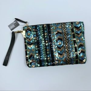 The Limited Sequin Wristlet/Clutch Bag